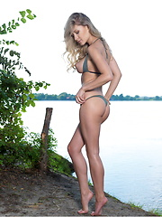 Candice B poses in nature