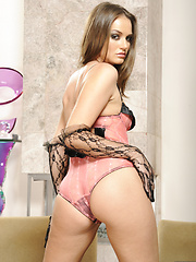 Tori Black in erotic poses wearing underwear