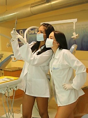 Karla and her friend Gaby play doctor with each other