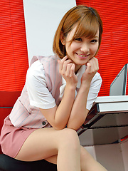 Hot Ichika Nishimura is sweet office babe that loves to amaze us