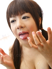 Japanese Shino Mizusawa munches on a boner